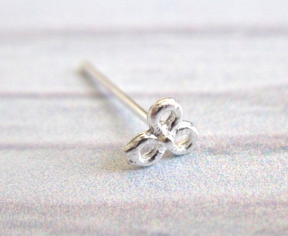 Tiny Flower Nose Stud  925 Sterling Silver Nose Ring by baronykajd, $5.00