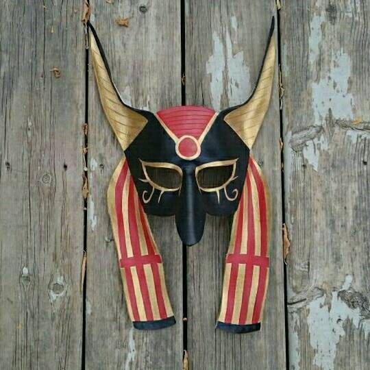 Leather Anubis Mask Egyptian Mask Custom by KhaosTheoryLeather