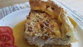 Een lekkere, wat zoetige, hartige taart gevuld met pastinaak, rode ui, feta en walnoten ! Het recept komt uit de laatste 'Boodschappen'.