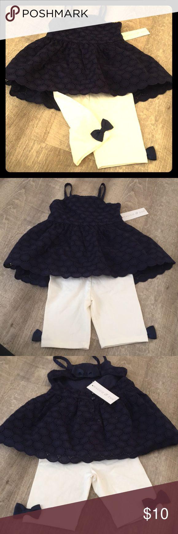 Maggie & Zoe two piece sun dress Knit midi dress with cream capri leggings Maggie & Zoe Matching Sets