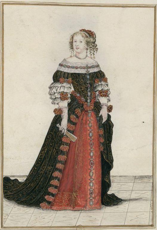 Reine de France - Marie-Thérèse d'Autriche, Infante d'Espagne, mariée le 4 juin 1660 à Louis XIV, roi de France