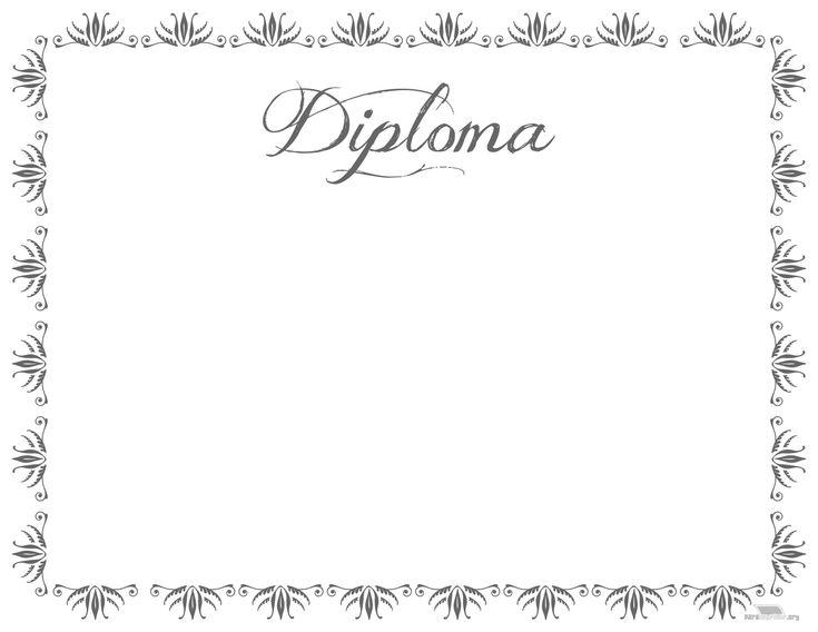 Diploma de fin de cursos para imprimir
