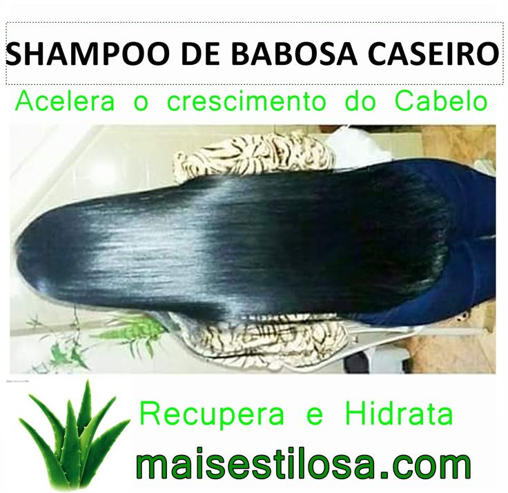 CLIQUEM AQUI e aprendam como fazer o shampoo de babosa caseiro para o cabelo crescer mais rápido e saudável, também ajuda a evitar a queda de cabelo e combater a caspa.