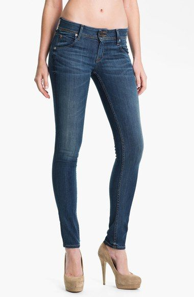 Hudson Jeans 'Collin' Skinny Jeans (Stella) available at #Nordstrom