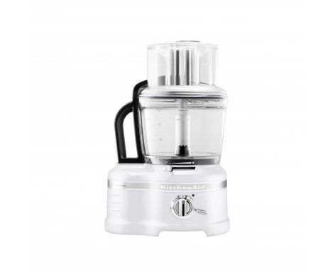 The KitchenAid Pro Line Series 16 Cup Food Processor in Frosted Pearl.  The Food Processor features a die-cast metal base, an incredible 15 standard inclusions as well as the revolutionary ExactSlice™ system that allows you to slice from thick to thin with one slide of the lever making easy work of everyday food preparation.