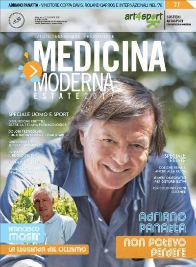 L'edizione estiva di Medicina Moderna è dedicata ai grandi uomini dello sport italiano. Nel n. 27, intervista ad Adriano Panatta e Francesco Moser.  Consulta l'indice:  https://www.medicinamoderna.tv/r/27/medicina-moderna-n-27-giugno-2017.html