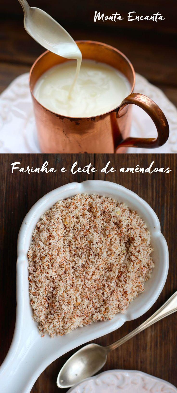 Como fazer a farinha e leite de amêndoas em casa? Fácil fácil, são duas receitas em uma. Preparamos primeiro o leite de amêndoas e com a sobras da amêndoa …