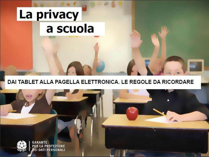 La privacy a scuola: il garante aggiorna la guida