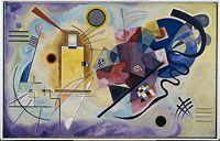 Jaune-rouge-bleu de Vassily Kandinsky. https://www.centrepompidou.fr/fr/Collections/Les-oeuvres