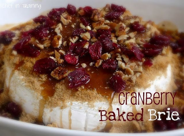 baked brieRecipe, Food, Cranberries Baking, Christmas, Appetizers Ideas, Thanksgiving Appetizers, Baking Brie, Holiday Appetizers, Baked Brie