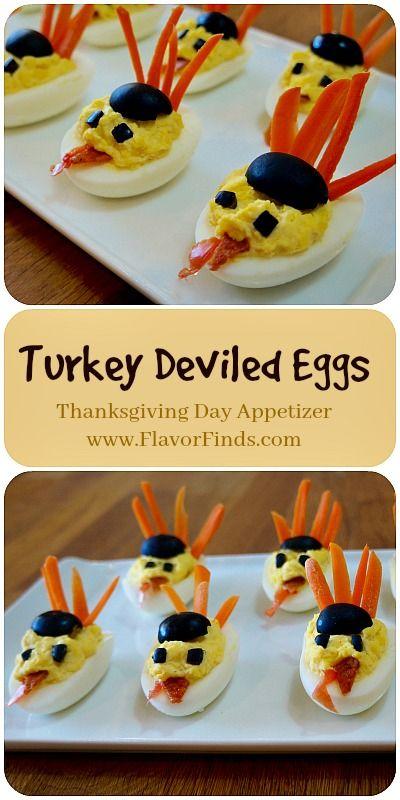 Turkey Deviled Eggs! Thanksgiving day appetizer, #thanksgiving  recipes, thanksgiving recipes , appetizers