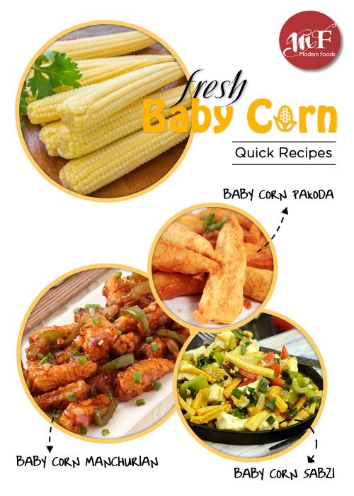 get fresh Baby Corn delivered at home Modern Foods  Recipes using Baby  Corn  1 Baby Corn Pakoda 2 Baby Corn Manchurian 3 Baby Corn Sabzi 4 Baby Corn Fritters 5 Baby Corn Cutlet 6 Egg and Baby Corn Masala and many more  #food #foodies #corn #healthyfood #vitamins #minerals