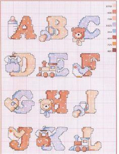 Schema Punto Croce Alfabeto Bebe1