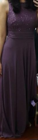 Vestido Longo de Festa/Madrinha Roxo Claro