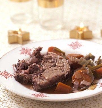 Photo de la recette : Cuissot de sanglier au vin rouge – cuisson 5 heures