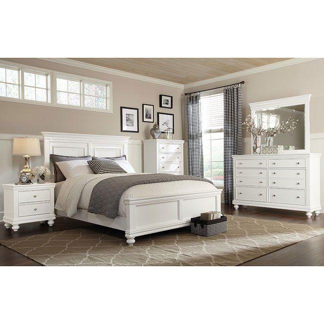 Essex Panel Bedroom Set (White)
