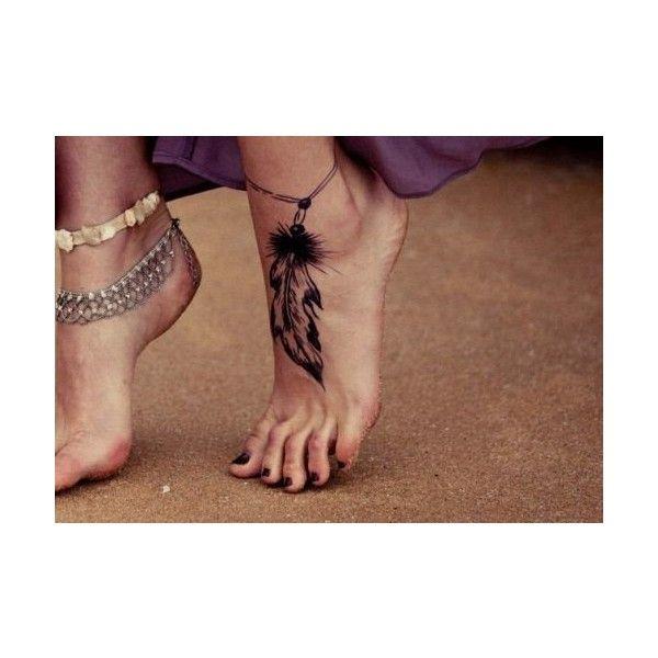 dream catcher ankle tattoo