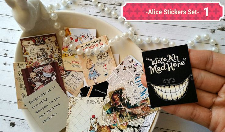 24xAlice in the wonderland Stickers,Planner stickers,Tea party Cute Stickers in Crafts, Scrapbooking & Paper Crafts, Scrapbooking | eBay!