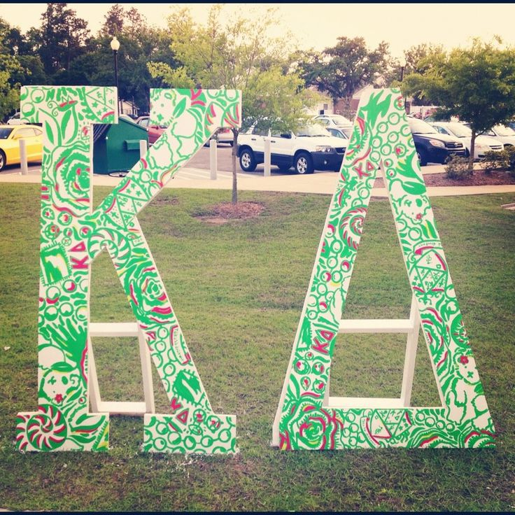 kgwaddell kappa delta letters that allynthegambler and i painted for our chapter