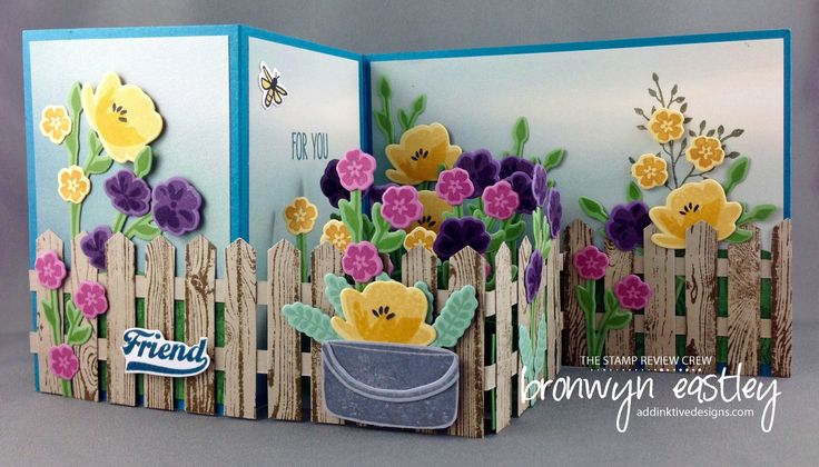 Pop-Up, Z-Fold Box Card with Picket Fence. Tutorial now available to purchase. Instant PDF download. Bronwyn Eastley addinktivedesigns.com Made with Stampin' Up! products.