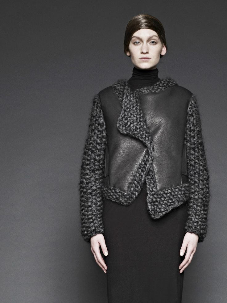 Sunghee Bang leather knit combo