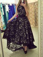 Роскошные длинные черные кружева женщины одеваются винтаж асимметричный кружева женщины осень и зима макси платье