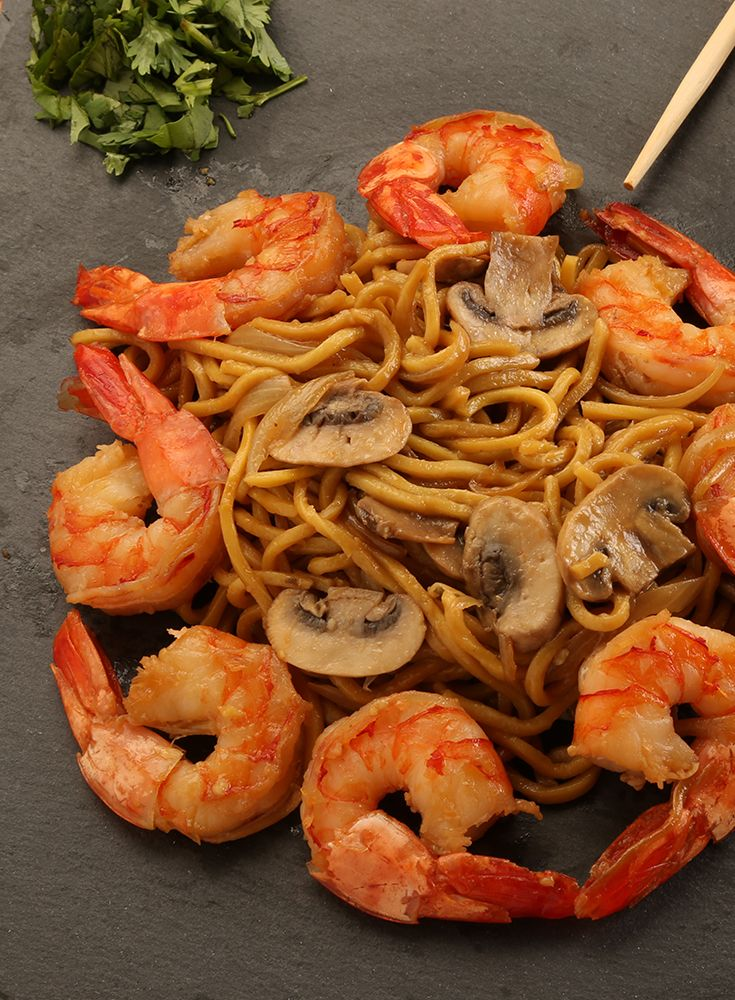 Shrimps With Noodles القريدس مع النودلز Shrimp Cuisine Food