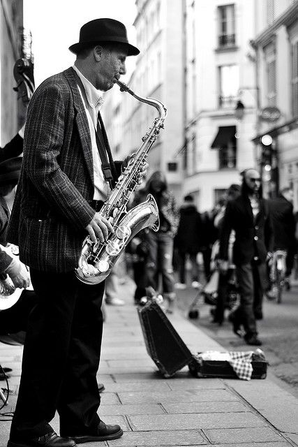 """""""I never liked jazz music because jazz music doesn't resolve. But I was outside the Bagdad Theater in Portland one night when I saw a man playing the saxophone. I stood there for fifteen minutes, and he never opened his eyes.... After that I liked jazz music. Sometimes you have to watch somebody love something before you can love it yourself. It is as if they are showing you the way."""""""