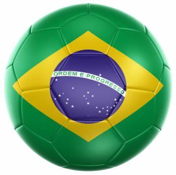 Image of the Brazil Flag on a soccer ball