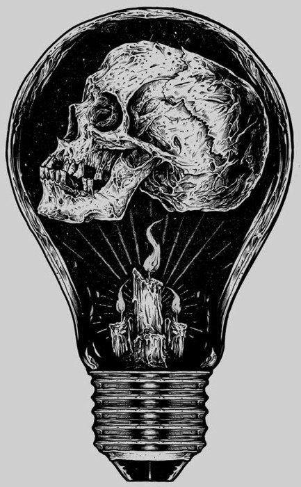 • drawing art horror skull morbid skeleton Macabre fuckedwithoutyou •