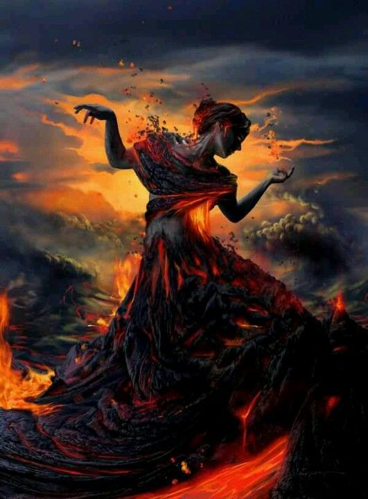 Lover of the Dark--woman on fire--Aries