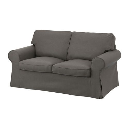 IKEA - EKTORP, 2-sits soffa, Nordvalla grå, , Sittplymåerna av kallskum och polyesterfibervadd ger bekvämt stöd åt din kropp och återfår snabbt sin form när du reser dig.Den vändbara ryggplymån av polyesterfiber ger ett mjukt stöd för din rygg och två sidor att slita på.Klädseln är lätt att hålla ren eftersom den är avtagbar och maskintvättbar.Ett urval av koordinerade klädslar gör att du lätt kan förnya utseendet på din möbel.10 års garanti. Läs om villkoren i garantibroschyren.