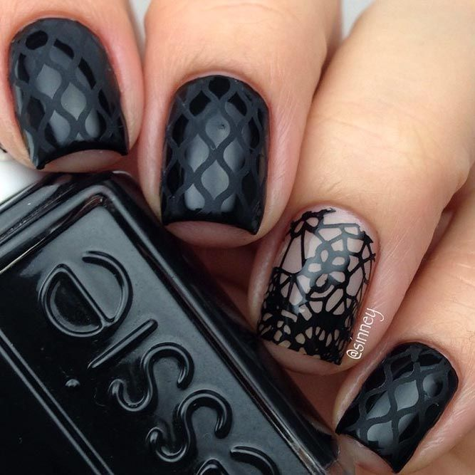 21 Edgy Ideas for Matte Black Nails to Break the Manicure Monotony - The 25+ Best Black Nails Ideas On Pinterest Black Nail, Matte