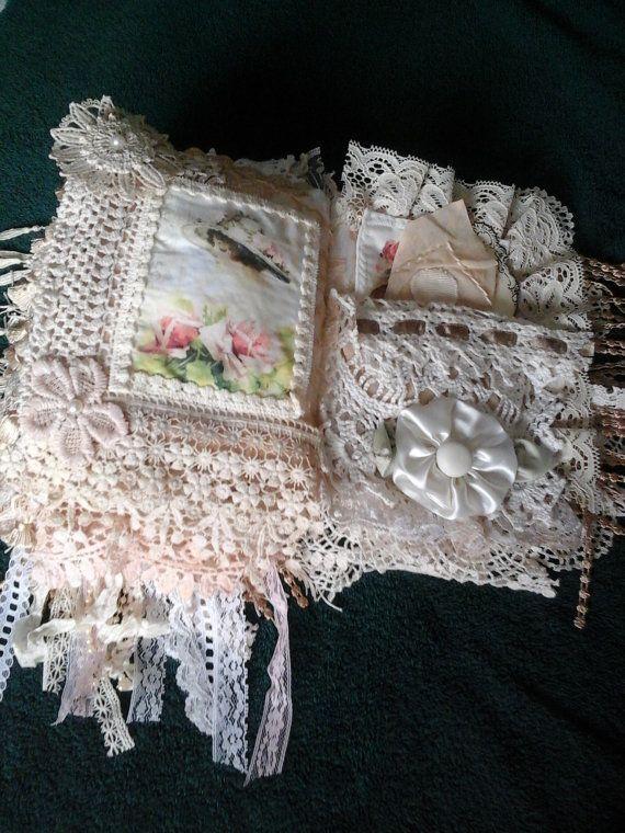 Victoriaanse dames stof en kant boek van AuntNinysCreations op Etsy