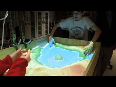 ▶ Augmented Reality Sandbox - realtime topographic contour line generation - YouTube