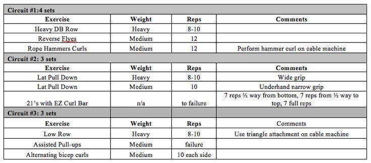Wednesday Workout: Back & Biceps Training