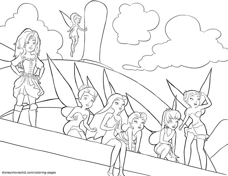 Disney's The Pirate Fairy Coloring Pages Sheet, Free ...