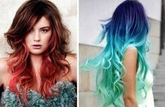 Волосы с эффектом Омбре  Становится модным  #макияж #визажист #урокипомакияжу…