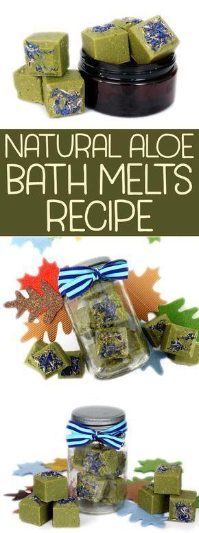 Aloe Vera Bath Melts Recipe with Epsom Salt for Dry or Problem Skin