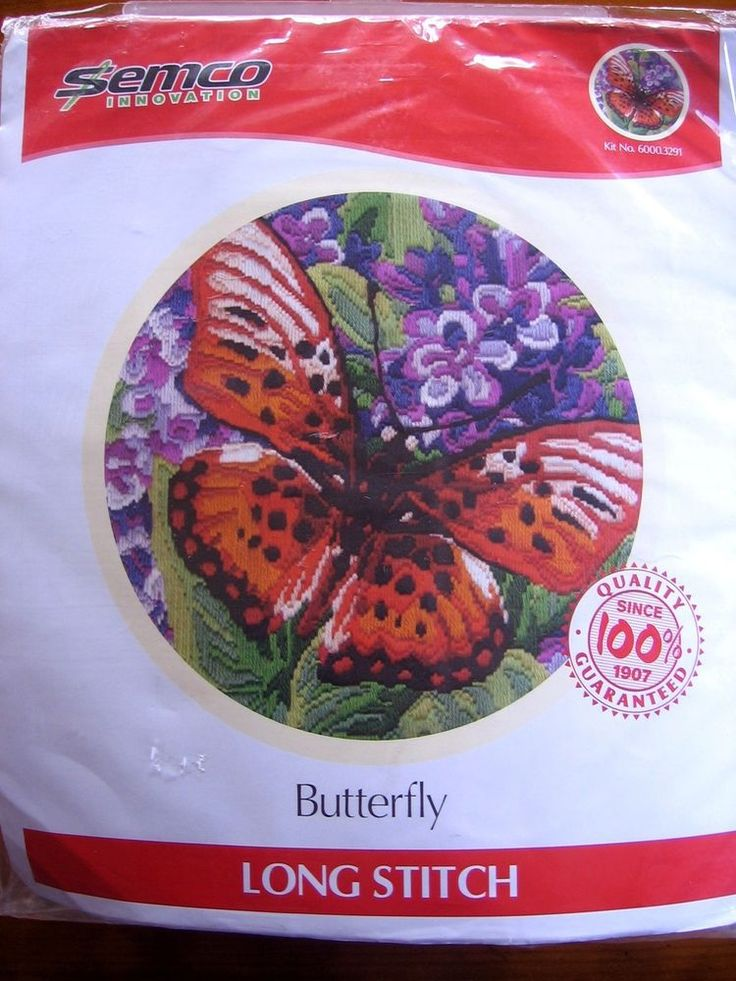 Semco Long Stitch Tapestry Embroidery Kit Butterfly No