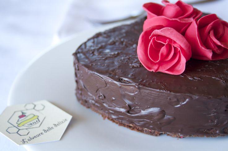 Torta cuore di Mamma : #festadellamamma #cioccolato #arancia #torta #ricetta #recipe