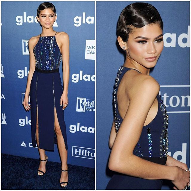 redcarpetman: Zendaya in David Koma ________________________________________ Can you guess which Kardashian sisters wore the same knit dress and gladiator sandals within just weeks of each other? ________________________________________ It's a Who Wore It Better sibling showdown that you've got to see to believe now at RedCarpetMan.com! ________________________________________ Follow our editor @theredcarpetman for more exclusive content.
