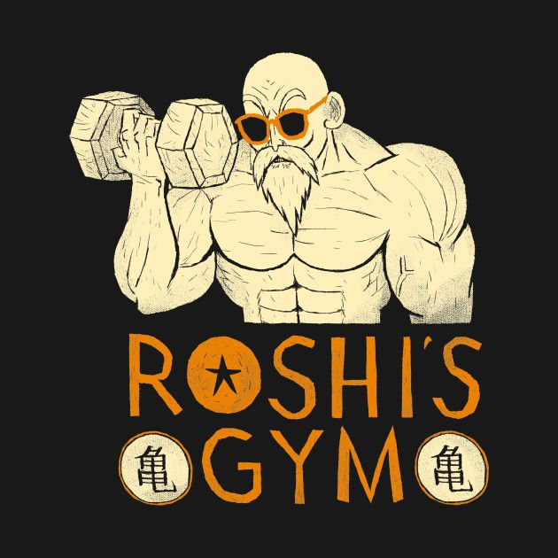 Check out this awesome #Roshi #Gym #Fitness #Shirt @ https://www.teepublic.com/t-shirt/16184-roshis-gym?aff_store_referral_id=756