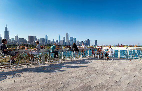 Unilock - Shedd Aquarium with Umbriano pavers in Chicago
