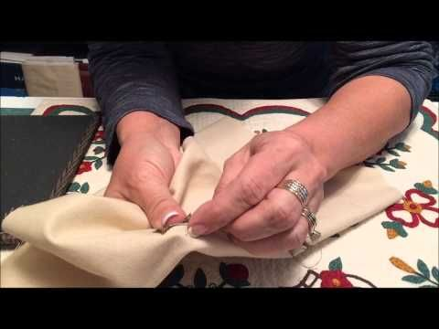 ▶ How To Hand Applique Tiny Stems - Back Basting - YouTube Schmale Stiele!
