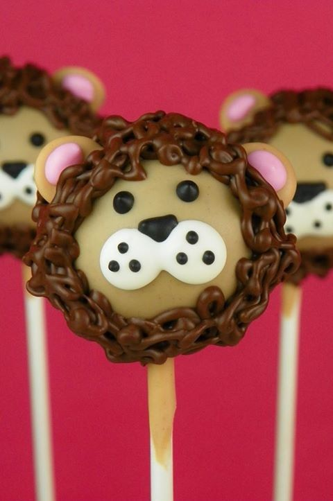 Jungle-Safari Party - Lion Cake Pop inspiration