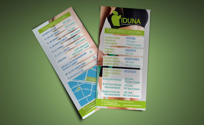 Iduna Estetica Malaga #folletos #flyers #estetica