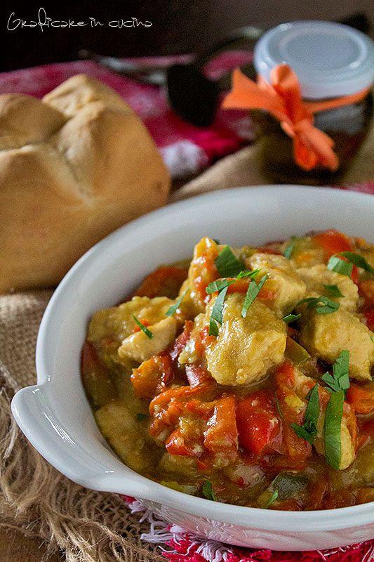 Bocconcini di pollo con i peperoni ricetta facile