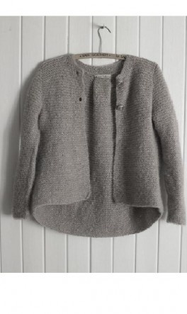 like garter stitch, the grey and the long back..