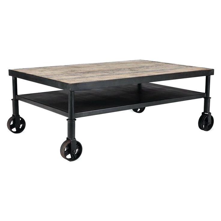 Coffee Table Belker Industrial Loft Reclaimed Wood Iron Casters Cart Coffee  Tableround Table On Wheels Ikea Part 57